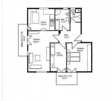 Traumhafte 3 Zimmerwohnung 88,5 Quardmeterrat