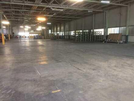 Hallenflächen bis 1.500 m² mit Büroräumen