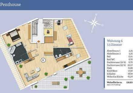 Wohnkomfort der Extraklasse - 3,5-Zi.-Penthousewohnung die keine Wünsche offen lässt