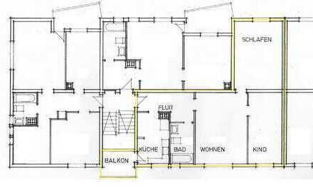 Kapitalanlage 3-Zimmer-Wohnung mit Balkon und Aussenstellplatz in LB-Eglosheim