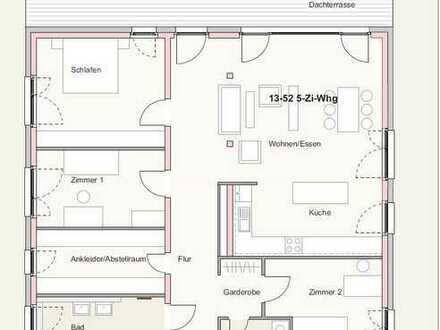 Neubau-Penthousewohnung in zentraler Lage von Ettlingen zu vermieten