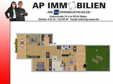 *MAINZ-FINTHEN* - 4 Zimmerwohnung mit EBK, saniertem Bad/WC, Garten und Garage