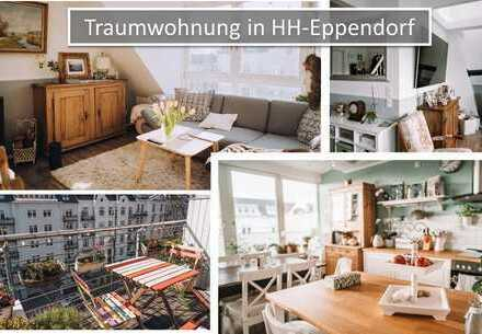 Lichtdurchflutete Maisonette-Dachgeschoss-Wohnung in Eppendorf