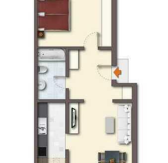 Vermietete 2-Zi. Eigentumswohnung * zentrale und ruhige Lage von Opladen * 2010 modernisiert