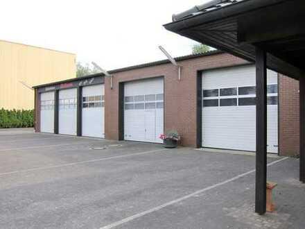 Gewerbehallen mit Büro und schönem Wohnhaus