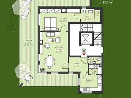 Neubau / 2 Zi. Penthouse-Wohnung - auch für Kapitalanleger