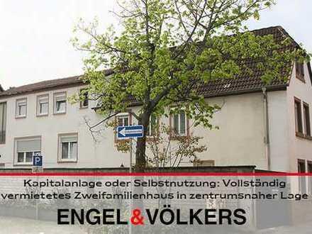 Kapitalanlage oder Selbstnutzung: Vollständig vermietetes Zweifamilienhaus in zentrumsnahe Lage