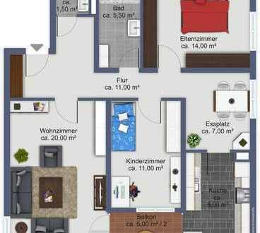 3,5 Zimmer-Wohnung mit toller Aussicht