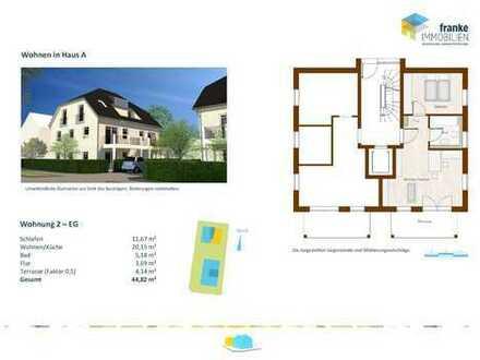 Wohnen in der Fasanerie - 2-Zimmer-Wohnung im Erdgeschoss mit offener Wohnküche