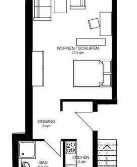 Erstbezug: 1-Zimmer-Wohnung mit gehobener Innenausstattung zur Miete in Kerpen