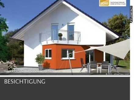 SOMMERHIT- großzügiges Einfamilienhaus KFW 55 mit Bodenplatte, Garage und Grundstückspreis