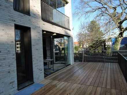 Erstbezug: 3-Zimmer-Erdgeschosswohnung + Hobbyraum, Loggia und großer Terrasse in Haar