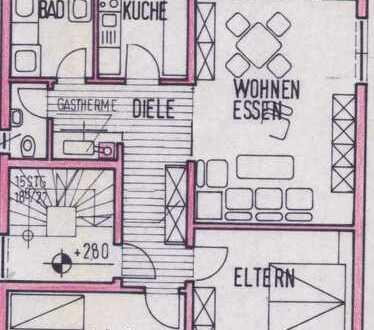 Gepflegte Obergeschosswohnung mit Balkon und Garage im Rosenstock