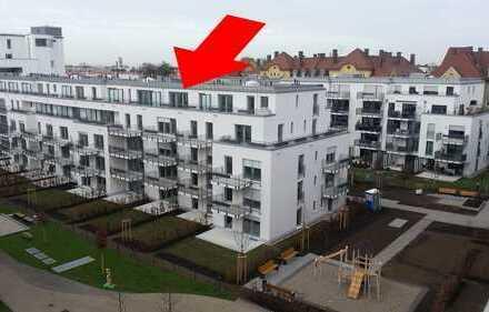 Provisionsfrei: Wohnung am Isarhochufer in Mittersendling mit zwei Dachterrassen