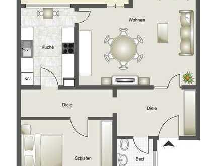 Sonnige 2-Zimmer-Dachgeschosswohnung mit Balkon und Aufzug in Köln-Heimersdorf