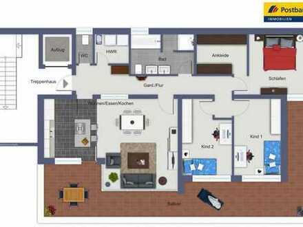 Reduzierter Kaufpreis - Hochwertige 5 Zimmer Wohnung - größer als ein Reihenhaus