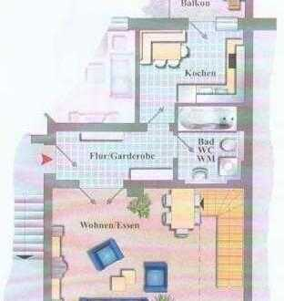 3-Zi-Maisonette-Wohnung im Dachgeschoss mit Balkon und Carport!