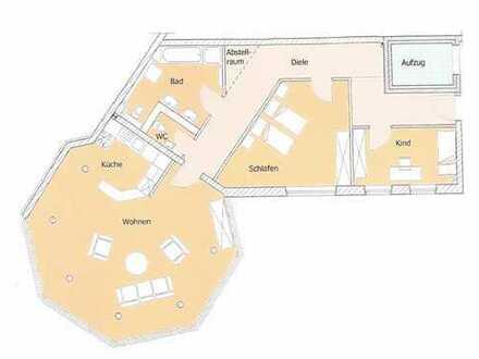 hochwertige Wohnung mit Dusche, Wanne, Gäste-Wc und künftigem Balkon