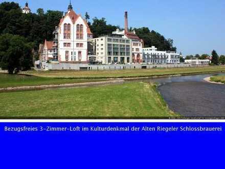 Bezugsfreies 3-Zimmer-Loft im Kulturdenkmal der Alten Riegeler Schlossbrauerei