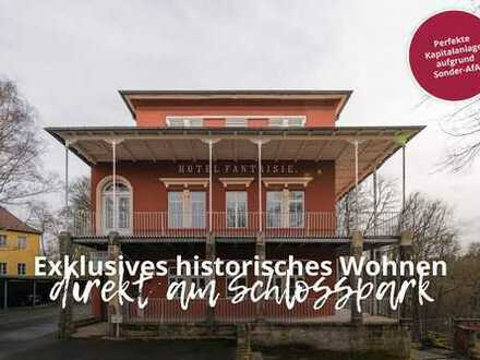 Denkmalgeschützte Eigentumswohnungen mit Gartenanteil direkt am Schlosspark in Eckersdorf!