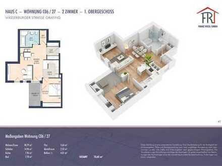 Stilvoll und modern: 2-Zimmer-Wohnung mit Balkon in Grafing