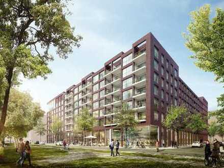 Kleine Neubau-Ladenfläche (provisionsfrei) in attraktiver Lage am Lohsepark in der HafenCity