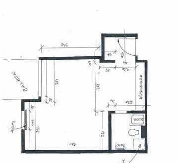 Attraktive 1,5-Zimmer-Wohnung mit Balkon in Pforzheim