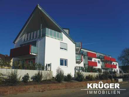 Pfinztal-Berghausen / repräsentative und hochwertige 3-Zi-Neubau-Whg mit großem Balkon & TG-Stellpl.