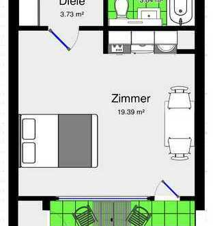 1-Zimmer-Wohnung mit Balkon, vollmöbliert, Nähe Klinikum Gotenstraße
