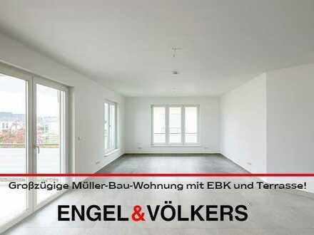 Großzügige Müller-Bau-Wohnung mit EBK und Terrasse!