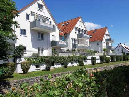 Sonnige 2-Zimmer-Wohnung mit EBK und Terrasse in beliebter Wohnlage von Renningen-Malmsheim!