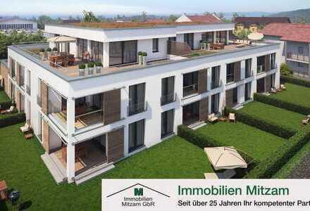 Wohncarré SULZPARK: Neubau 2-Zimmer-Obergeschoß-Wohnung in Traumlage von Beilngries (provisionsfrei)