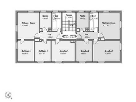 Neuwertige Wohnung mit vier Zimmern und Einbauküche in Wundsiedel