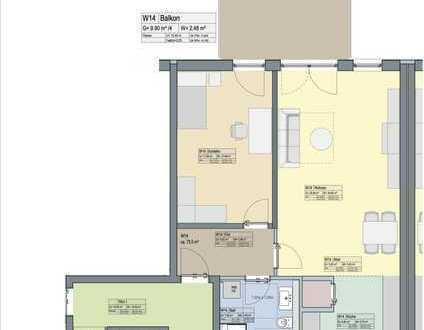 2-Zi.-Wohnung mit großem Balkon
