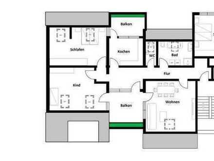 Schöne, helle 3 Zimmerwohnung mit 2 Balkonen