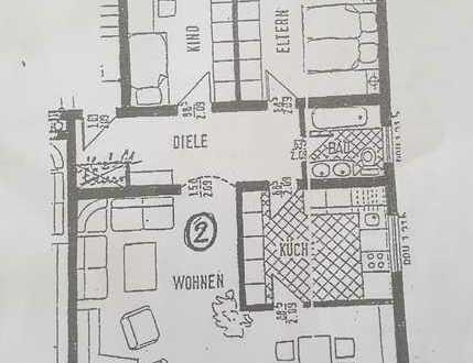 Gepflegte Dreizimmerwohnung , Balkon und EBK in Bickenbach