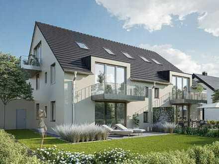 MAIER - Neubau : 3-Zimmer-Dachgeschosswohnung mit 2 Balkonen in ruhiger Lage
