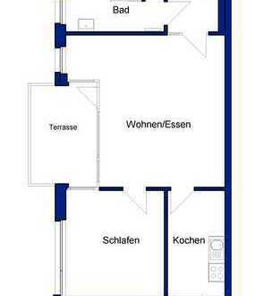 Moderne 2-Zimmer-Wohnung mit Terrasse und Tiefgarageneinstellplatz