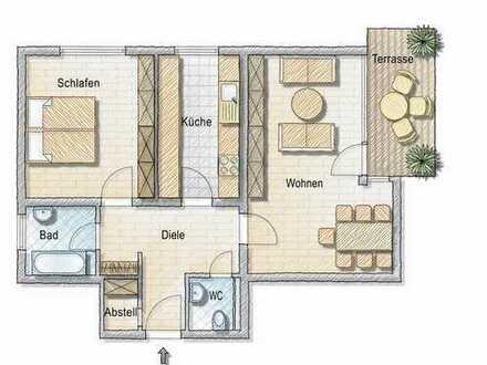 3-Zimmer-Wohnung mit Terrasse und Ausblick in die Natur!