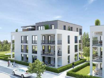 Groß und preisgünstig: 1-Zimmer-Garten-Wohnung im neuen Quartier Glashütte in Achern