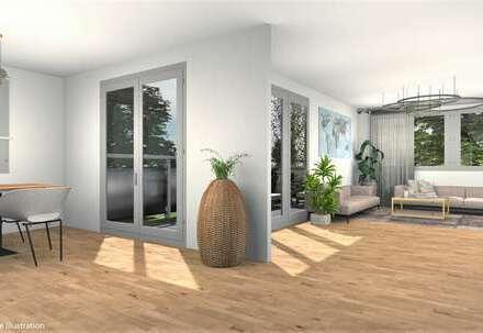 Elegante 4,5 Zimmer-Wohnung mit Balkon und Loggia, auf Wunsch mit eigenem Gartenanteil