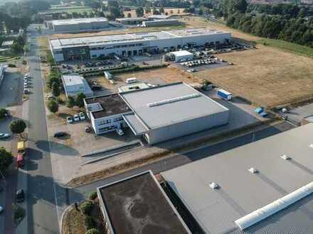 Büro & Halle unmittelbar an Autobahn & Flughafen