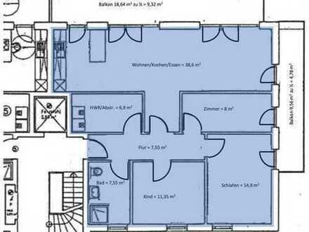 Erstbezug mit EBK und Balkon: exklusive 4-Zimmer-Wohnung in Oldenburg (Oldenburg)