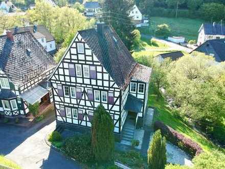 **schönes Fachwerkhaus mit tollem Garten**