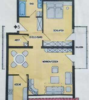 Großzügige 2,5 Zimmer DG-Wohnung mit 81 m² Wfl. BJ`2001 mit schöner Aussicht in Ortsrandlage!
