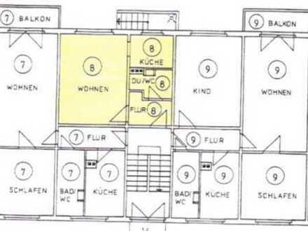 Vermietete Einzimmerwohnung von Privat