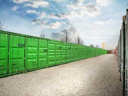 Günstiger Lagerraum - Lager bei Berlin: videoüberwachtes Gelände, Zugang 24/7, Lagercontainer