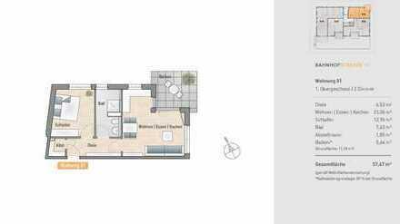 Schicke 2-Zimmer-Neubauwohnung