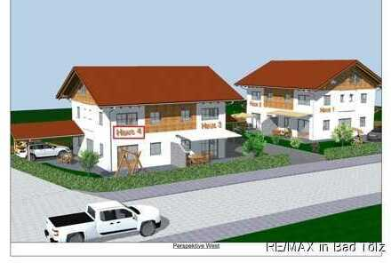Waakirchen, Nähe Tegernsee: Neubau von vier DHH -  Haus 4 mit sonniger Süd-Westausrichtung