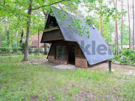 Für Naturverliebte: Finnhütte an der Dahme - Idyllisches 2-Zi.-Feriendomizil mit Balkon und Garten